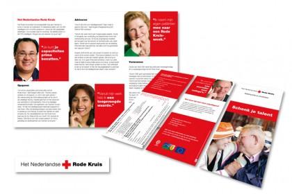 Wervingsfolder voor het Nederlands Rode Kruis