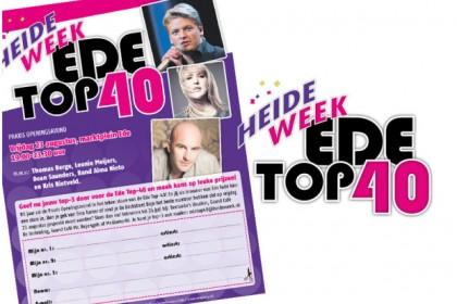 Advertentie Heideweek Ede, Edese top 40